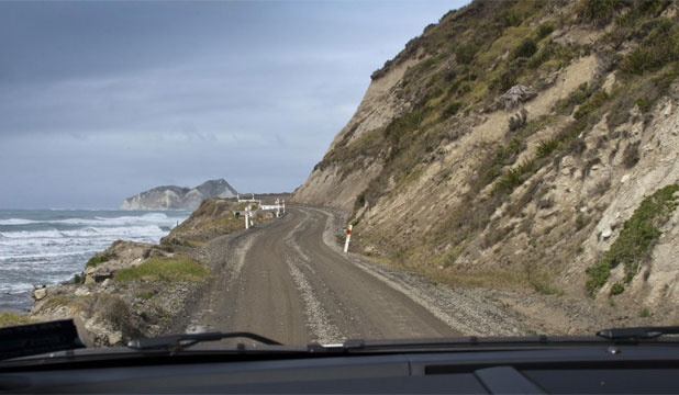 The Gisborne to Opotiki Highway around the East Coast. In 1970 it was a bit more rugged than this!