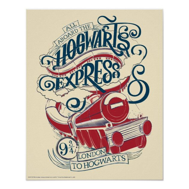 Harry Potter Hogwarts Express Typography Poster Zazzle Com