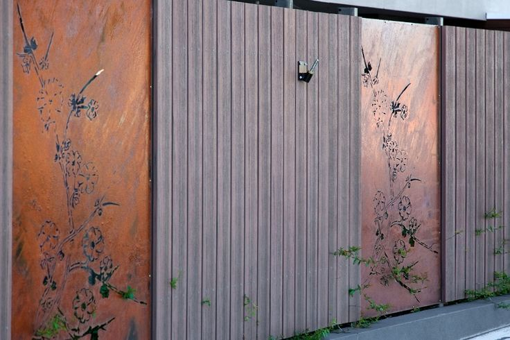 These laser cut decorative screens are used as stylish fence infill paneling. Blossom design