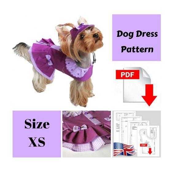 Small dog clothes Dog dress PDF dog clothes Pattern dog dress (scheduled via http://www.tailwindapp.com?utm_source=pinterest&utm_medium=twpin)