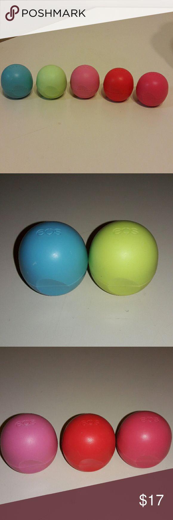Lip Balm Bundle EOS Lip Balm Set: * Blueberry Acai * Honeysuckle Honeydew * Strawberry Sorbet * Summer Fruit * Watermelon Wonderland EOS Makeup Lip Balm & Gloss