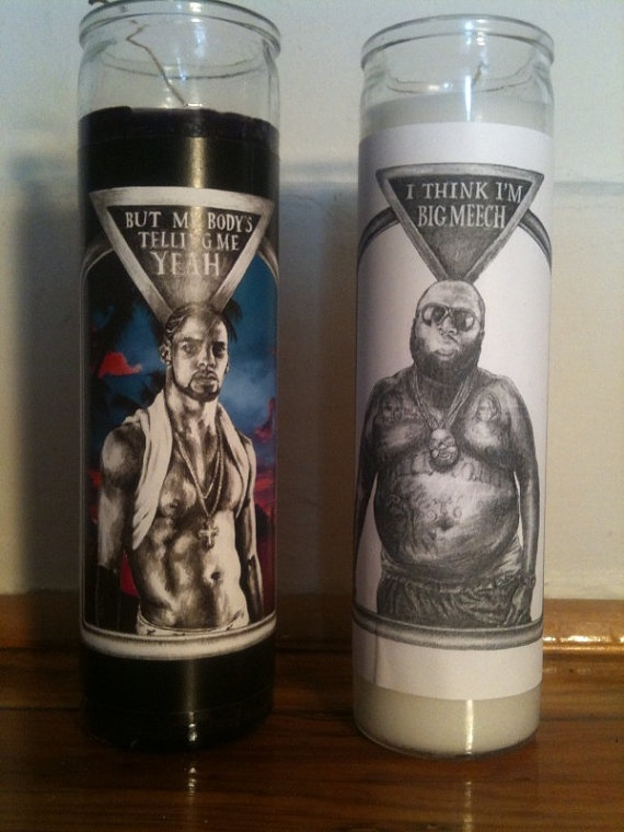 R. Kelly and Rick Ross votive candles $9
