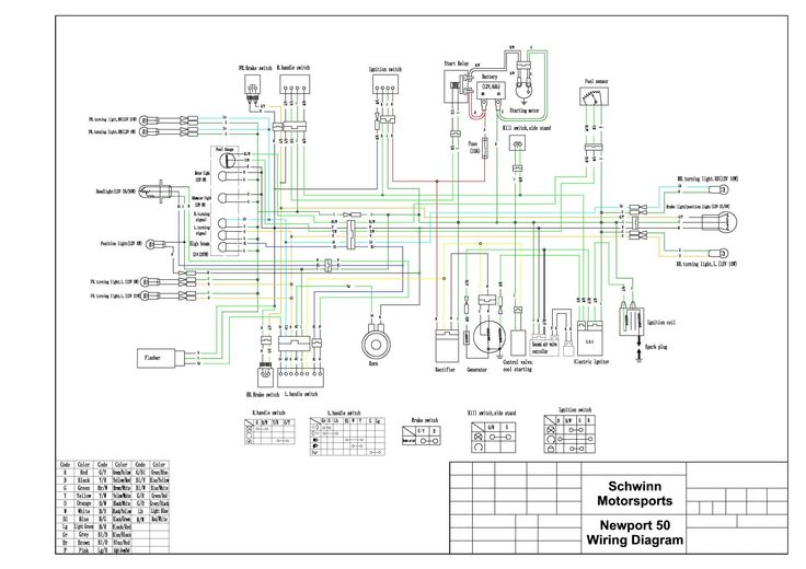 wiring diagram for electric scooter
