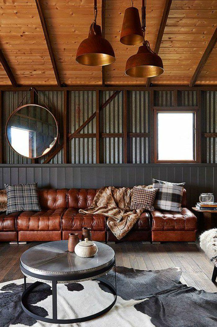 17 meilleures idees a propos de tapis de peau d39animal sur for Tapis design avec canape cuir perpignan