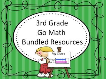 This file download contains all Go Math bundled chapter resources for 3rd Grade. Go Math-Drop Down Lesson Plans   Go Math Lesson Plans Complete Set  Go Math-Essential Questions  Go Math-Essential Questions-I Can Statements  Measurement Posters (Full Page Colored)    Go Math-Vocabulary Posters (Full Page Colored)   Go Math-Vocabulary Posters (Half Page Colored)   Go Math-Vocabulary Definitions Cards  Go Math-Vocabulary Definition Sort Cards Go Math-Data Check List No Commercial Use or Sharing…