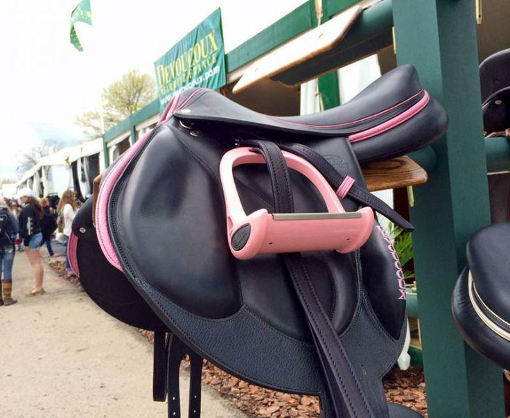 Need A Saddle In Your Cross-Country Colors? Devoucoux offers several options, including a pretty pale pink.
