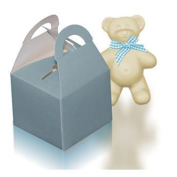 Mini cajas regalos azul cielo, perfectas para detalles de recién nacido niño. Encuéntrala en Gran Velada. #diy  #packaging