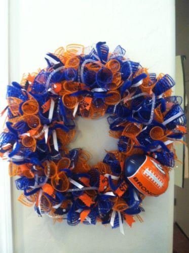 Best 25+ Broncos wreath ideas on Pinterest | Denver broncos colors ...