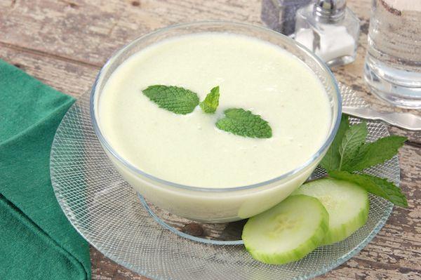 Vitamix cucumber, mint, yogurt soup...cold