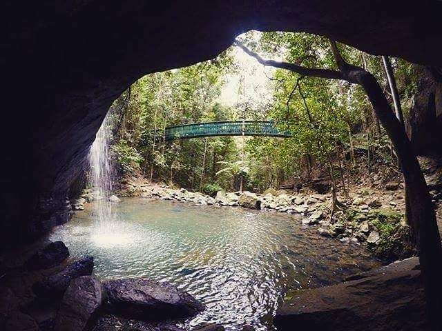The Stunning Buderim Falls. 12 mins drive and a short walk from our park.