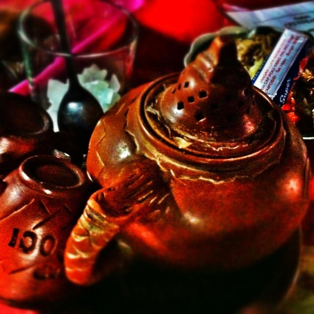 Tea Poci with Gandul Rice