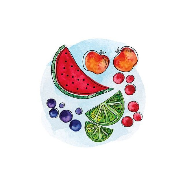 Watercolor Illustration - Fruits