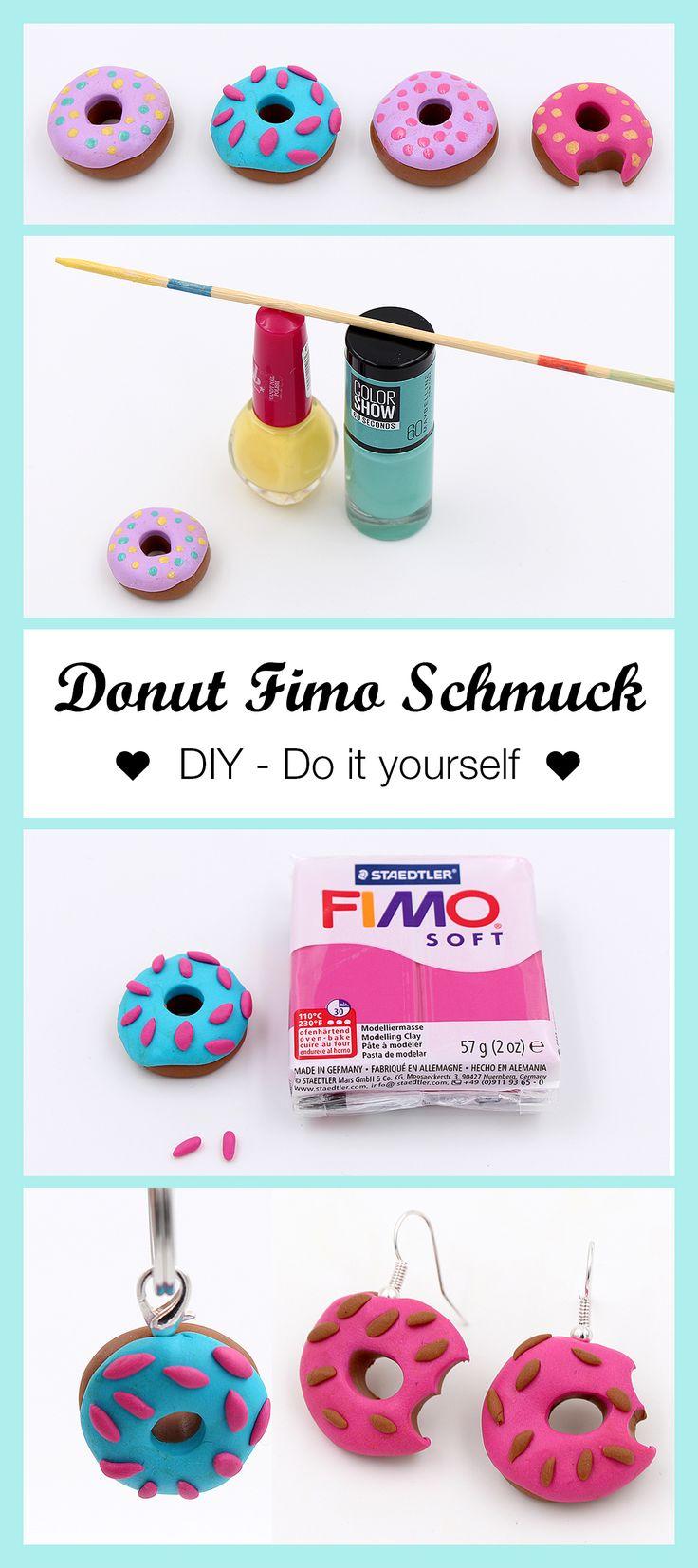 Schmuck aus Fimo Donuts selber machen – DIY Anleitung