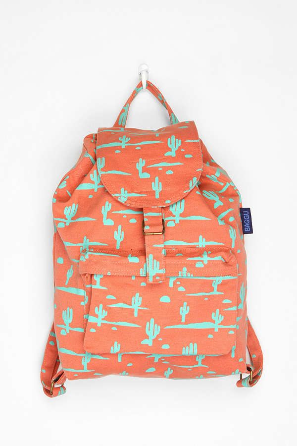 397cfc84c729 BAGGU Printed Backpack | Cactus Love. | Backpacks, Chic backpack ...