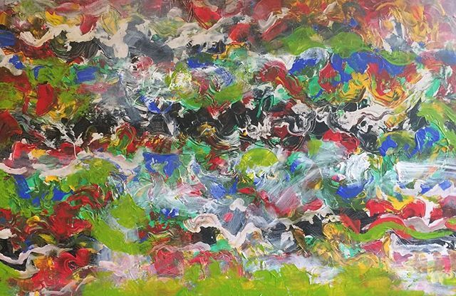 #abstract #art #original #acrylics #multicoloured #coolandwarm #green #red #complementarycolours #spontaneous #create #expressive #artist #australia #buydirect #artlovers #decor #galleries #design #home #office #new #interiordesign #styling #staging #personalize #colourful #positive DOMAIN acrylic on canvas 61x91cms If you live in or are visiting Adelaide please DM to purchase. AUD 100 - Architecture and Home Decor - Bedroom - Bathroom - Kitchen And Living Room Interior Design Decorating…