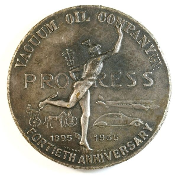 1935 Vacuum Oil Company Fortieth Anniversary Medal - A large medal with a 69mm diameter, only 250 were made