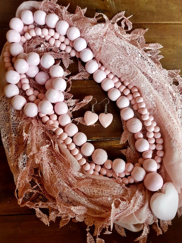 Pink Beaded Necklase Combo