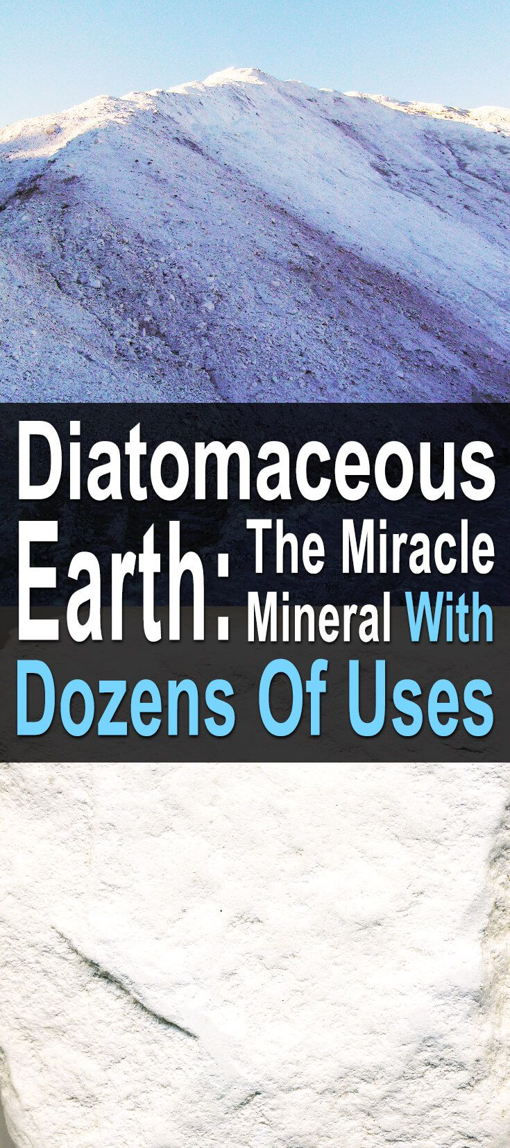 What makes diatomaceous earth such a miracle worker? It's all about its unique and natural chemical makeup. Heavy in silica with calcium, magnesium and other healthy minerals, this powdery sediment is a versatile problem solver, capable of everything from skin care to pest control.