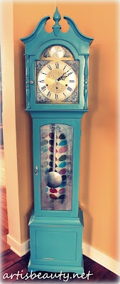 #artisbeauty.net my Made over Grandmother clock   Wild and crazy granny clock with Krink markers too...:)