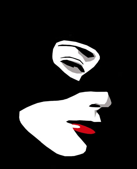Catwoman Original CutPaper Illustration by Rob Kelly