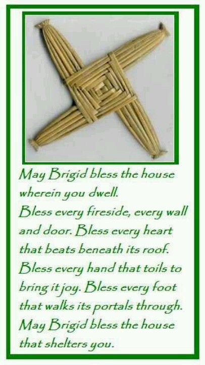 Brigid Blessing- Her festival is celebrated especially between 31st January when you hang out our Brat Bhríd until 2nd February.  Join me this year touring Ireland and celebrating her festival  www.irishblessingstours.com