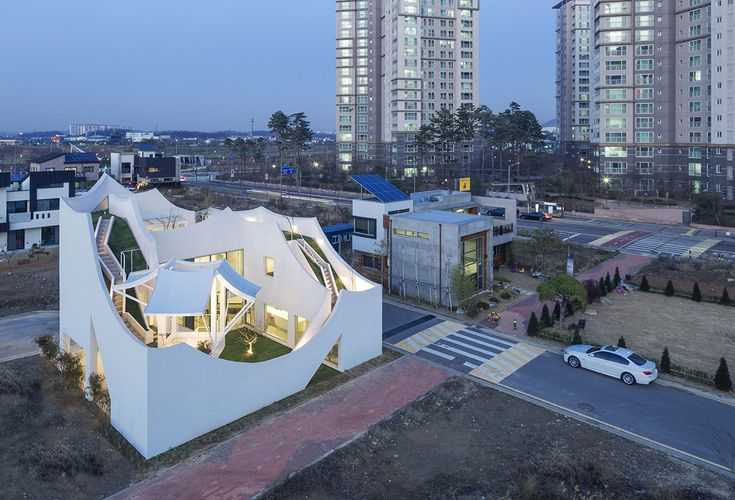The Flying House by IROJE KHM Architects has Landed near Incheon, South Korea | Yatzer