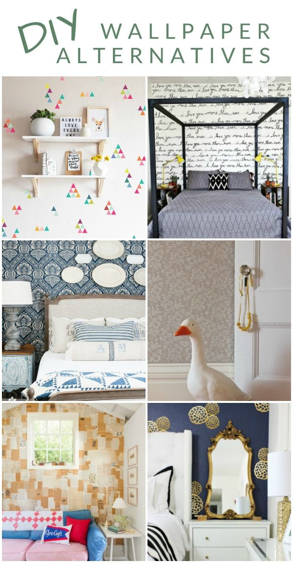 She Covered Her Walls In What Diy Wallpaper Alternatives Diy Wallpaper Removable Wallpaper Diy Paint Alternative