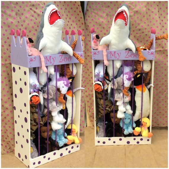 4ft, Stuffed animal storage, stuffed animal zoo, stuffed animal cage, stuffed animal hammock, stuffed animal net alt. Zoo Cage, Toy Storage