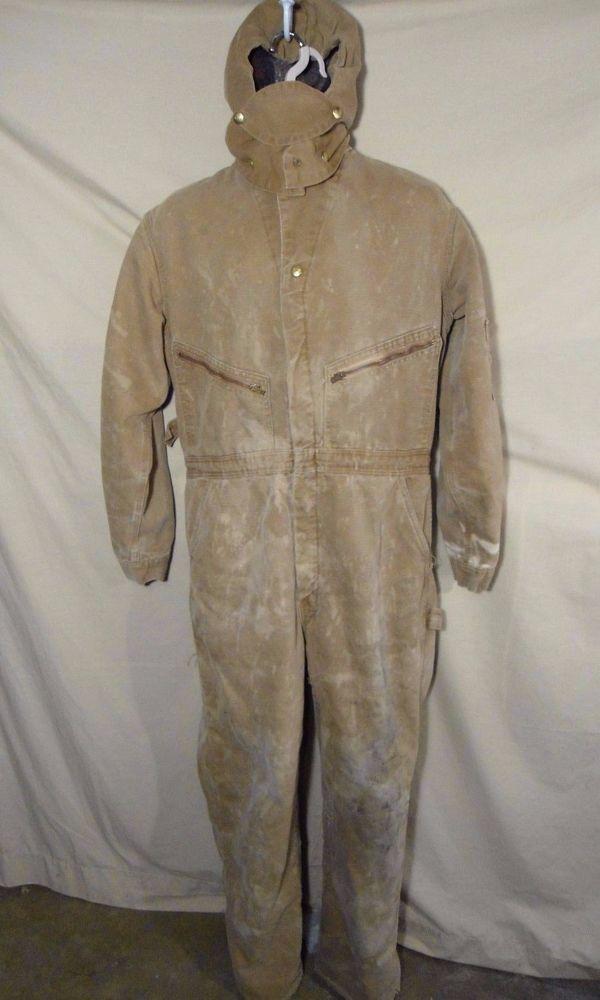 Vintage Carhartt Men S Insulated Work Overalls Bibs W