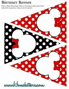 Banner de minnie mouse roja