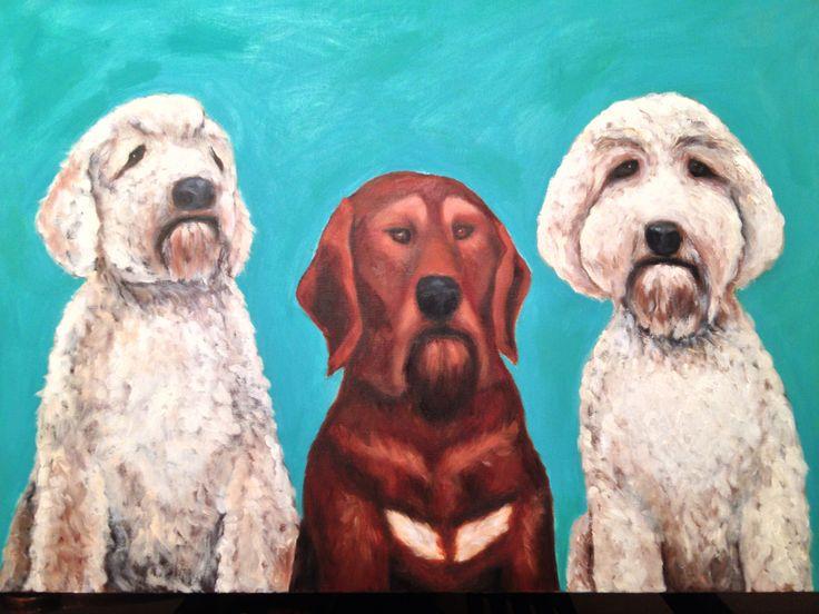 Custom pet portrait. Oil on canvas. Maryrosenakamurafineart@ gmail.com