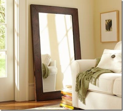 Another pottery barn knock-off mirror to do.: Closet Doors, Benchwright Floors, Big Mirror, Wall Mirror, Floors Mirror, Living Room, Master Bedrooms, Diy Mirror, Pottery Barns