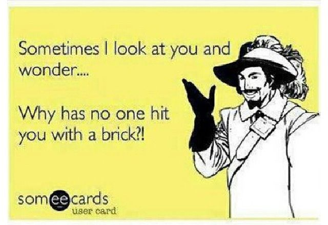 E card funny meme brick haha