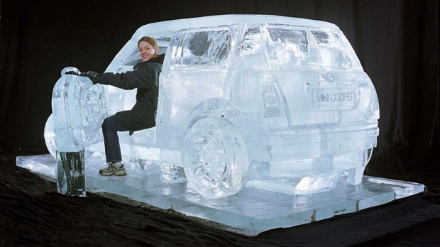 mini ice sculpture .... Nice!!!!