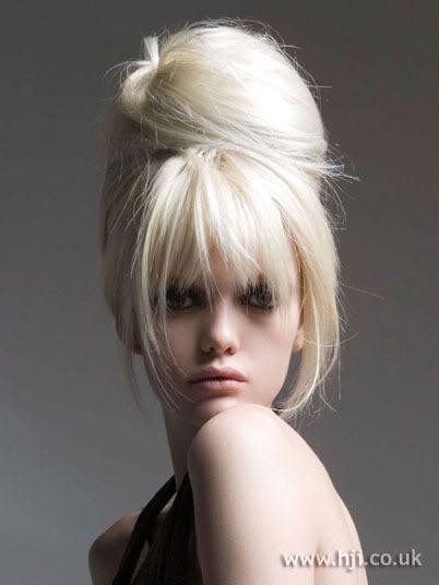 Bridal hair. Wedding hair. giant bun with fringe. bouffant. Wedding bouffant.-pin it by carden
