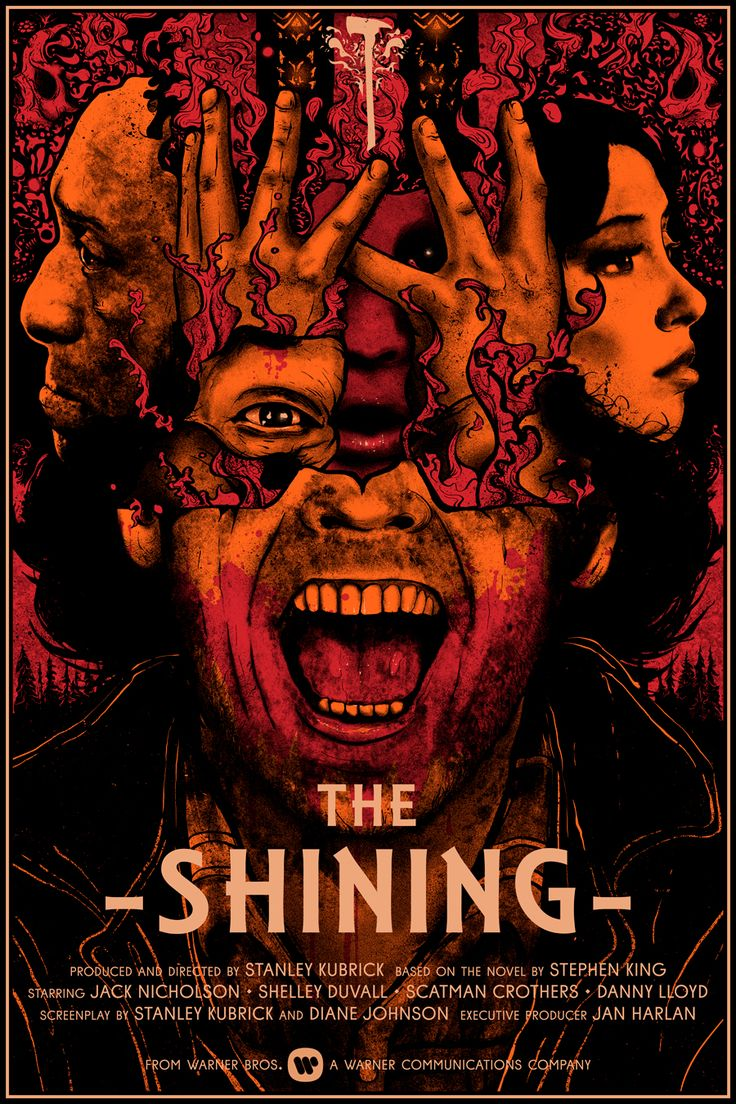 "The Shining Dimensions: 24"" x 36"" Inks: 4 x Colours Medium: Screen Print STORE Nikita Kaun 2016 INSTAGRAM 