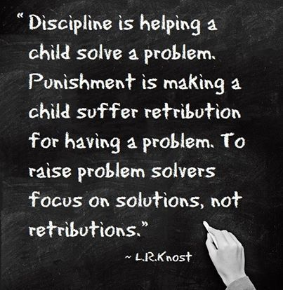 Solutions, not retribution! Beautifully stated. Find out how with Conscious Discipline, www.consciousdiscipline.com #iheartcd