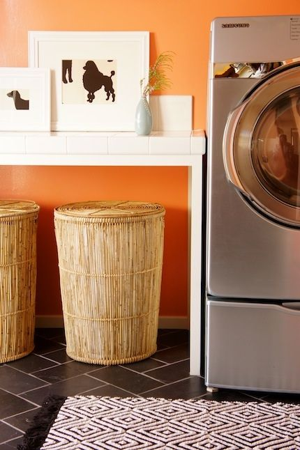 1000 Ideas About Orange Laundry Rooms On Pinterest
