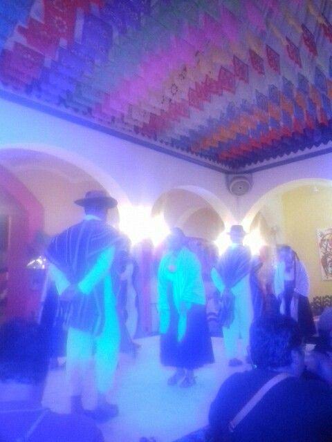 Baile Mixe,  fiestas de la Guelaguetza, Oaxaca, México.