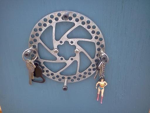 Recycled Bike Disc Brake Key Holder by phoenixonfire on Etsy