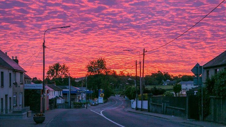 Joe Dixon took this fabulous photo one Monday morning at 4.55am of the road out of Gorey