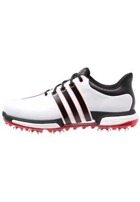TOUR360 BOOST WD - Golfschoenen - white/core black/power red
