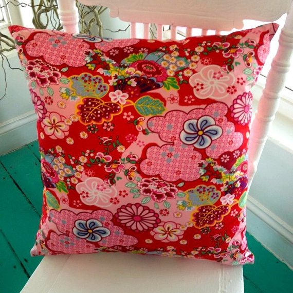Rare Oilily Dutch Fabric Kimono Blossom Red by 100vintagefabric, $55.00