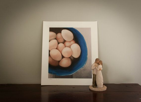 Eggs in blue pot by LikaHorn on Etsy