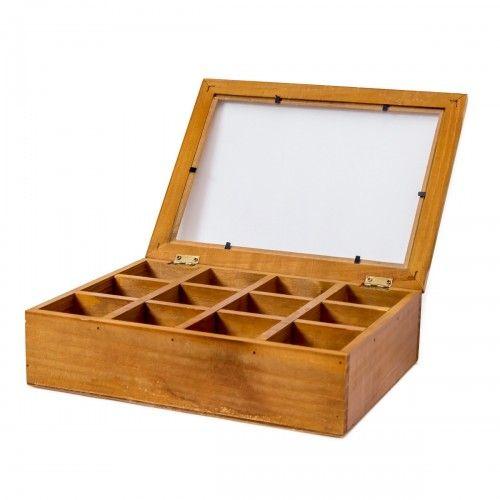 Anambas | box kotak kayu kaca hiasan pajangan aksesoris dekor interior design