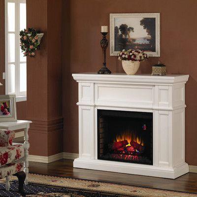 Living Room: chocolate, cream, white. (Small fireplace)