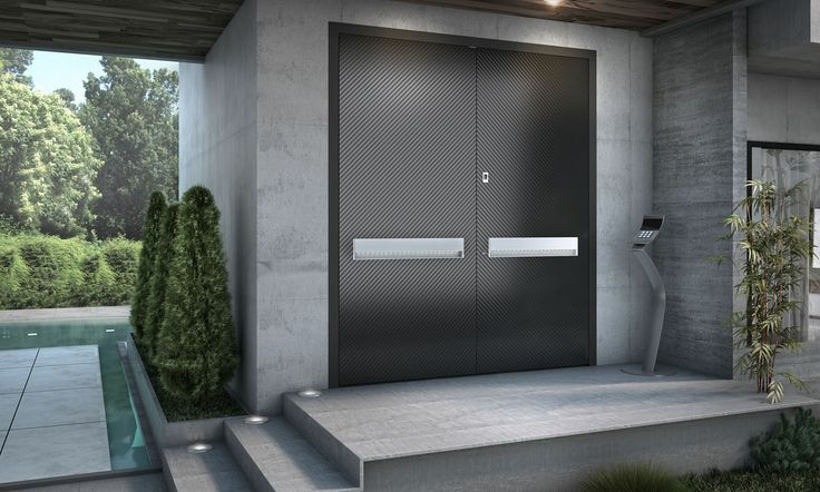 The minimal design of the system allows for the perfect integration of your Entrance Door to the residence façade, offering flexibility, functionality and exceptional performance.  Electronic access is provided by the installation of a fingerprint identification scanner, or numeric key pad.  For further information visit our website: www.internodoors.com