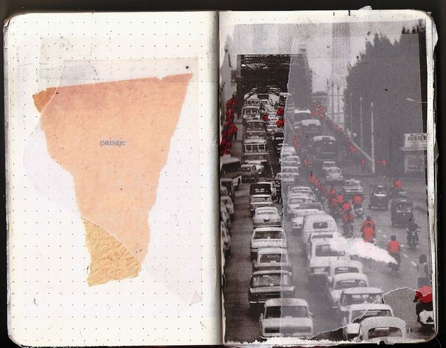 Cuaderno - Calle de hombre solo / tajo de miedo/ no para eso vamos día a día cruzando una acera pisando otra R.PS   Carlos Gonzales