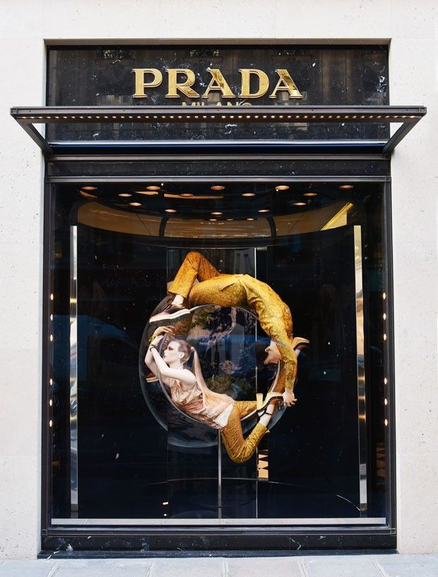"""PRADA, Paris, France, """"The Perfect Circle"""", The Iconoclasts by Milena Canonero, pinned by Ton van der Veer"""