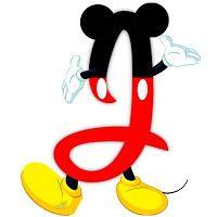 Original alfabeto inspirado en Mickey Mouse J.